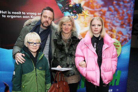 Wim Feyaerts en partner Nicoline Dossche en kids Lancelot en Bloeme