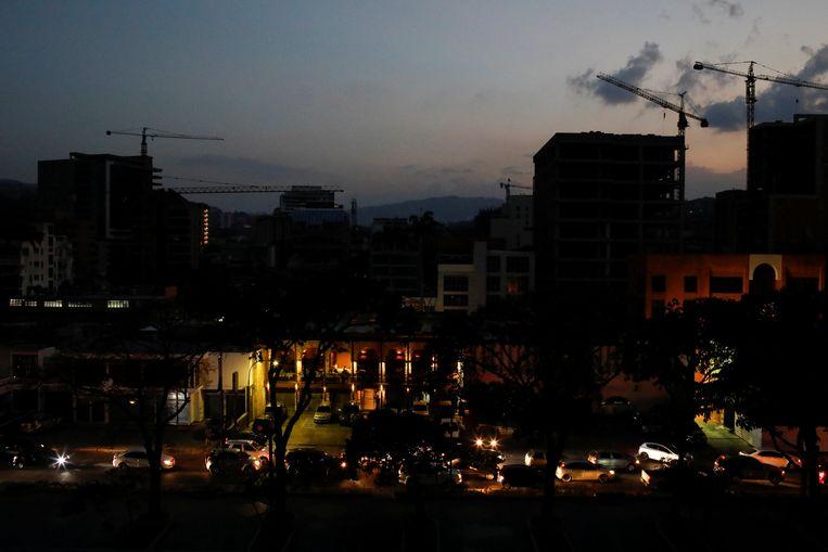 In Caracas viel de straatverlichting de afgelopen dagen uit door het gebrek aan elektriciteit.