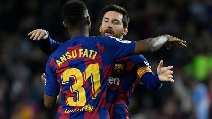 Twee assists van Leo Messi, twee goals van Ansu Fati voor FC Barcelona tegen Levante