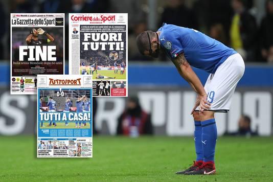 Leonardo Bonucci buigt het hoofd.