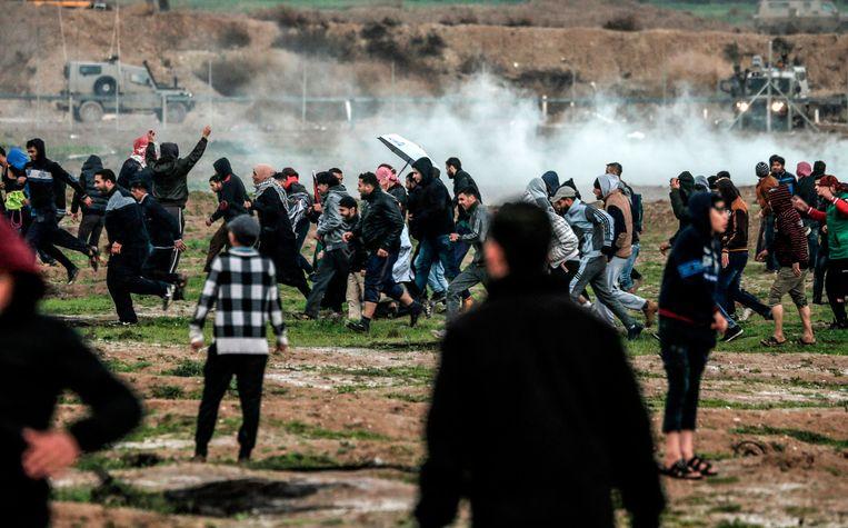Aan de grens tussen Israël en de Gazastrook wordt vandaag geprotesteerd.