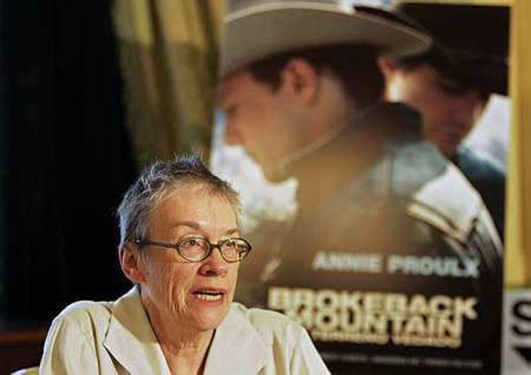 Annie Proulx tijdens de presentatie van haar boek Brokeback Mountain in 2006. Beeld
