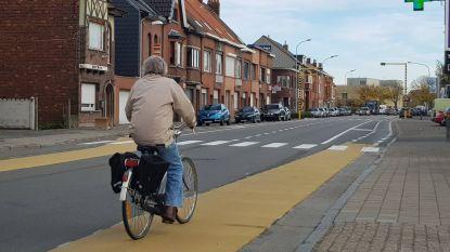 Fietssuggestiestroken Dendermondsesteenweg doorgetrokken tot in Gent
