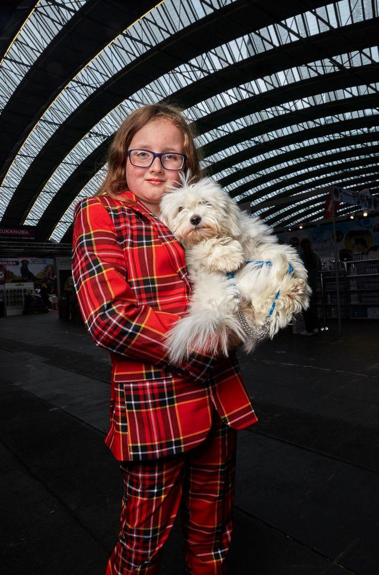 Fluff (18 weken oud) van Alanya Conway (9) uit Schotland Beeld Isabella Rozendaal
