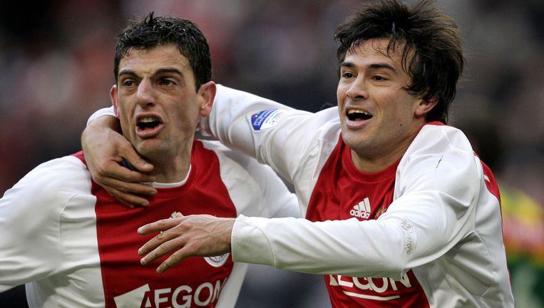 Dario Cvitanich (rechts) wil meer spelen en meer doelpunten maken in het nieuwe seizoen. Links Bruno Silva. Foto ANP/Olaf Kraak Beeld