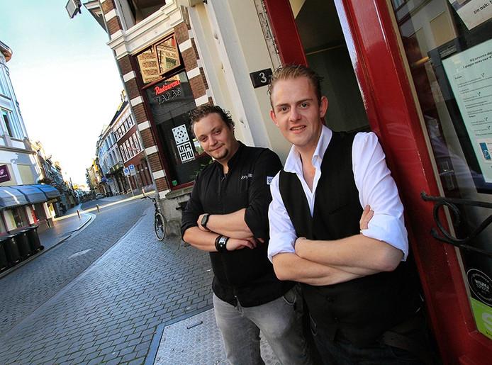Jurian van Bers ( rechts ) en Jory Blonk voor hun Streek eet & drinklokaal, dat dit najaar de deuren opent in Bergen op Zoom.