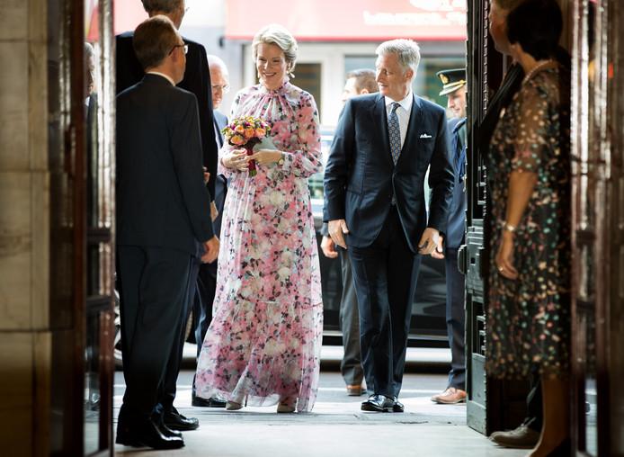 Le roi Philippe et la reine Mathilde lors du concert classique Prélude.