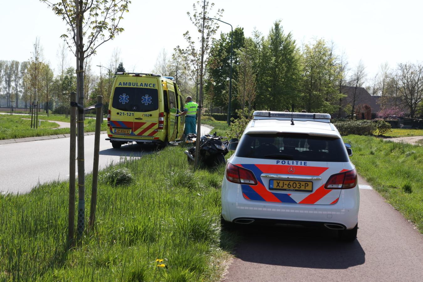Motorrijder onderuit in Sint-Oedenrode.