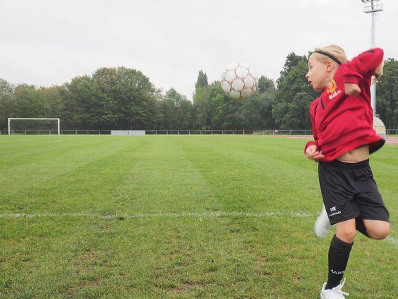 Elise Baert in actie op training