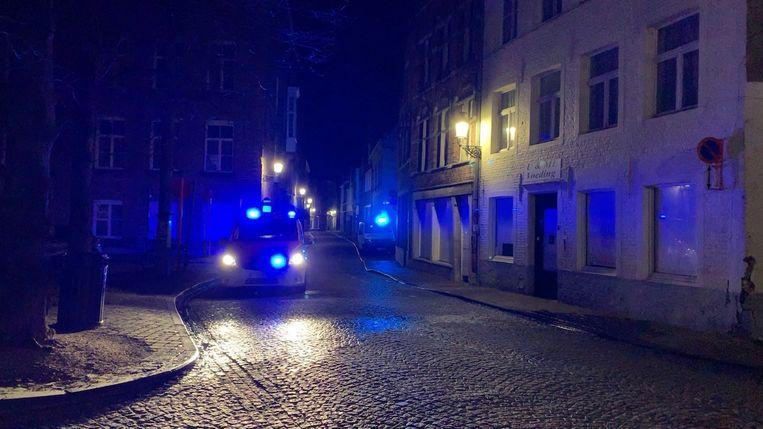 Brand Martin's Relais Brugge. De straat werd tijdens de interventie even afgesloten.