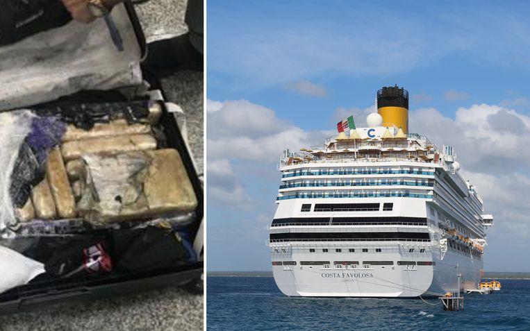 De cocaïne zat verstopt in de bagage van 8 mannen en 8 vrouwen.