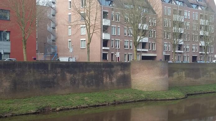 De stadsmuur aan de Kasterenwal in Den Bosch.