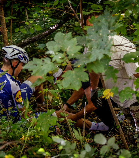 Vreselijke crash Laurens de Plus in Lombardije