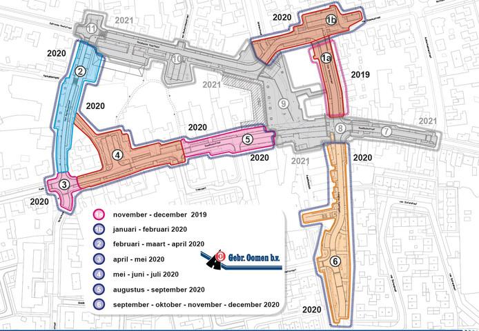 Het centrumplan Rucphen, met tijdpad