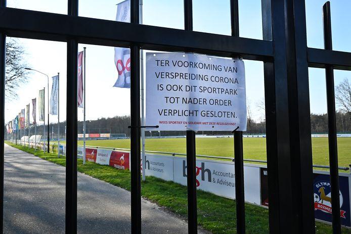 Het sportpark van Olympia'18 zit op slot.