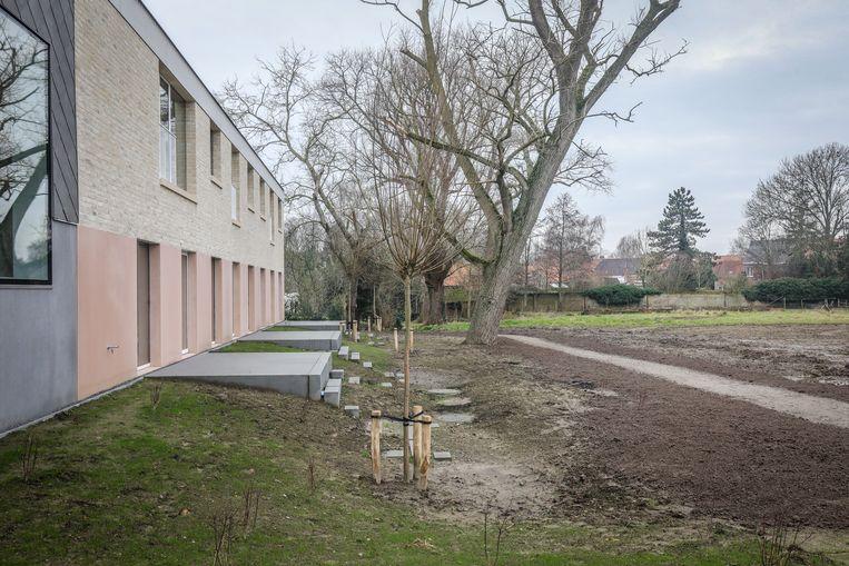 Elke klas heeft er een terras bij.