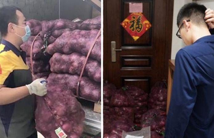 Une femme chinoise a fait livrer une tonne d'oignons devant la porte d'entrée de son ex-petit ami. Dévastée par son chagrin d'amour, elle a voulu punir celui qui l'a fait souffrir.