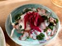 Ceviche van octopus bij Raffaele's Foodbar in Deventer.
