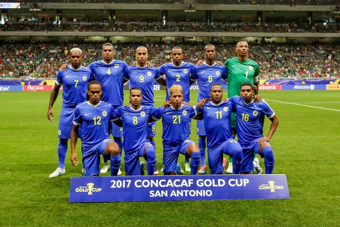 Curaçao op het toernooi om de Gold Cup in 2017.