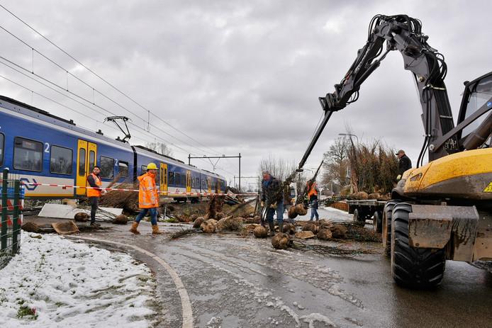 Schade enorm na treinbotsing in Udenhout