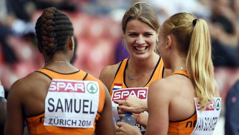 Jamile Samuel, Dafne Schippers en Tessa Van Schagen. Beeld null