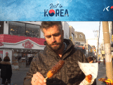 Snacken in Korea: een kroket met chocola