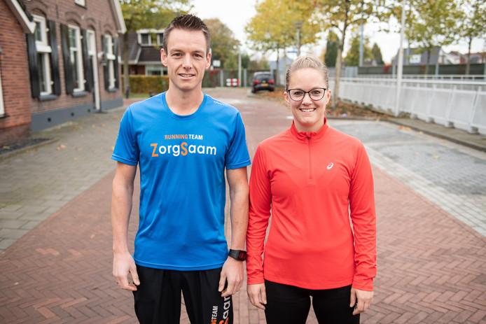 Rutger op den Dries en  Esther ten Brinke zijn een sportieve actie begonnen voor hun broer Dennis op den Dries, die twee maanden geleden overleed aan de gevolgen van acute leukemie.
