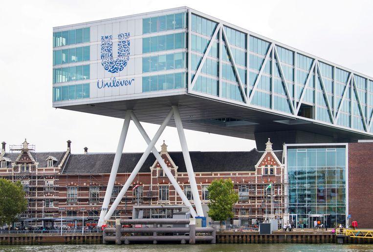 Het hoofdkantoor van Unilever in Rotterdam. Beeld REUTERS, Piroschka van de Wouw