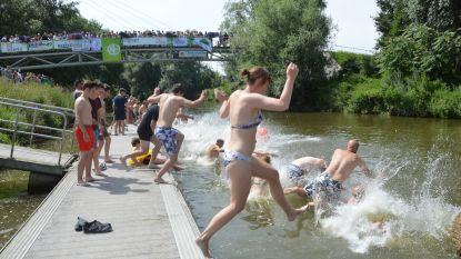 Big Jump vanop Denderkaai voor propere rivieren