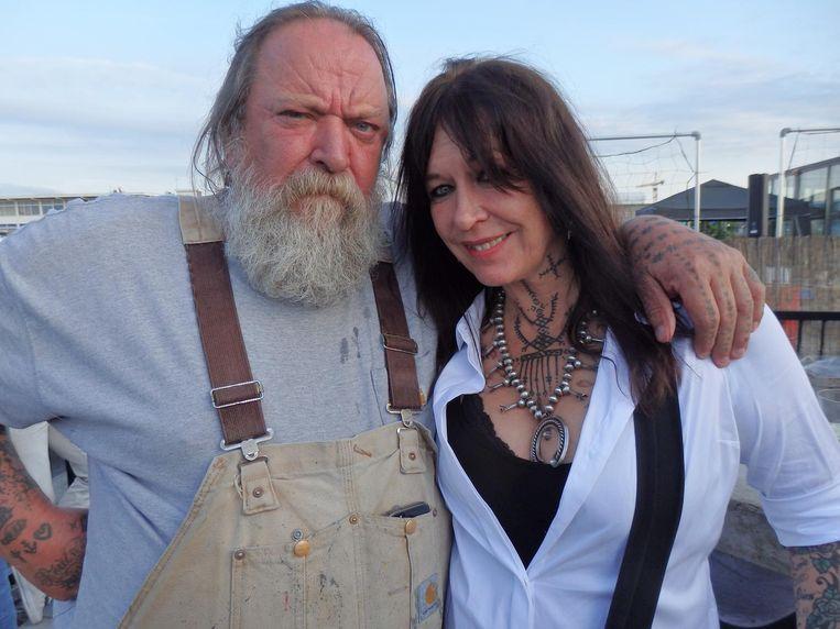 Geen geslaagde gastenlijst zonder Henk en Louise Schiffmacher. Binnenkort verschijnen de memoires van de tattoobaas. Beeld Schuim