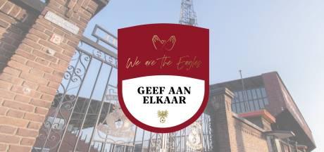 GA Eagles en supporters lopen warm voor minima en voedselbank in Deventer: 'Geef aan Elkaar'