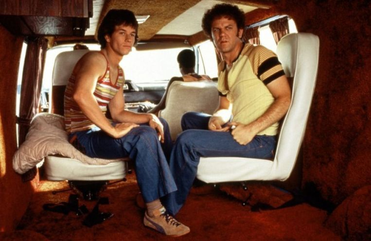 Mark Wahlberg en John C. Reilly in Boogie Nights van Paul Thomas Anderson. Beeld