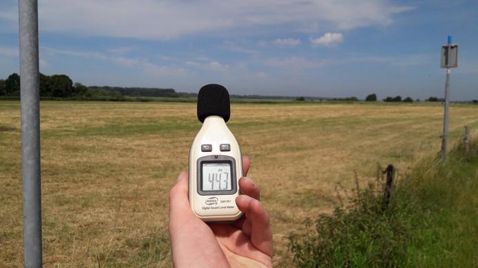In Hulshorst komt het lawaai zondag niet boven de 45 decibel uit.