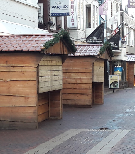 Betlehem Boulevard in Almelo krijgt vorm: houten hutjes staan er al