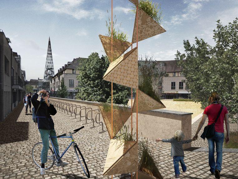 Beelden van het project 'Groene Parels'.