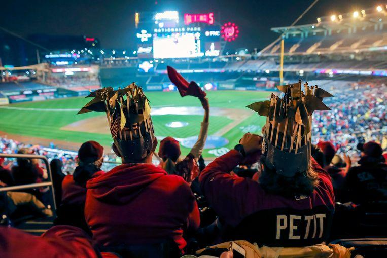 Fans van Washington Nationals. Beeld EPA