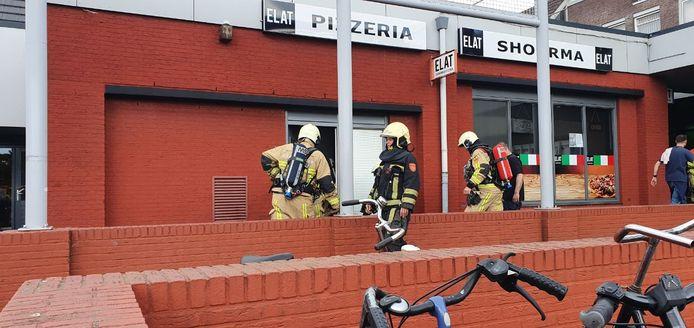 De brandweer in actie