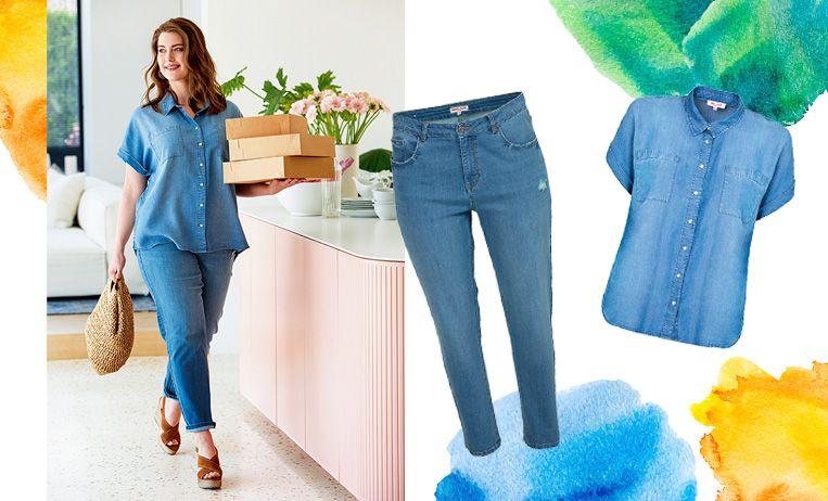 Jeans € 39,99  -  Blouse € 34,99