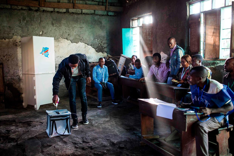 Op 30 december 2018 ging de Democratische Republiek Congo naar de stembus voor een opvolger van president Joseph Kabila. Beeld AFP/Patrick Meinhardt