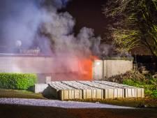 Twee gewonden bij brand in elektriciteitshuisje in Best, explosie gehoord
