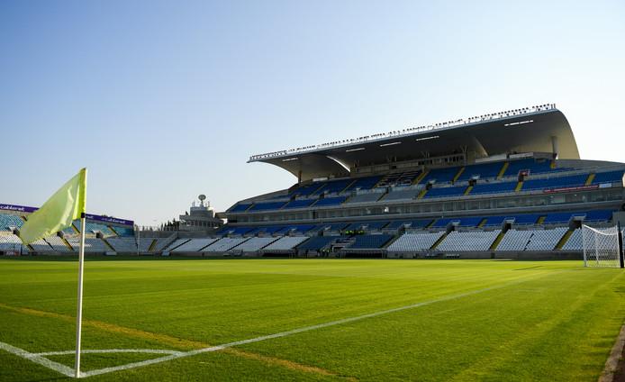 Het GSP Stadium, waar Ajax vanavond aantreedt tegen APOEL en PSV volgende weekl tegen Apollon Limassol.