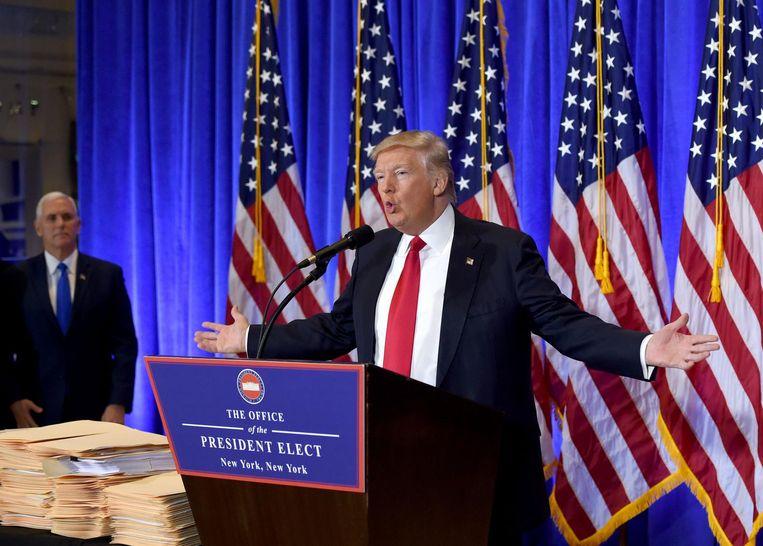 Trump zei dat 96 miljoen mensen in de Verenigde Staten vruchteloos op zoek zijn naar een baan. Beeld afp