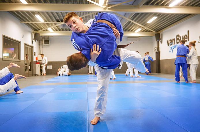 Jesse van Buel tijdens judotraining te Oss. Fotograaf: Van Assendelft/Jeroen Appels