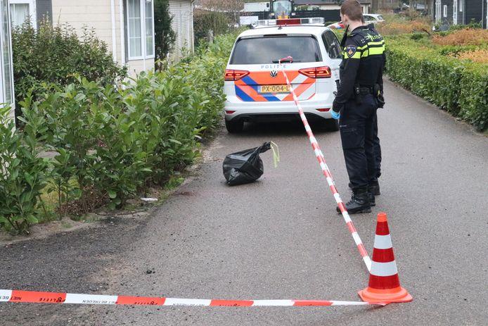 Politie bij de plek van het incident.