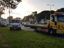 Twee keer twee auto's op elkaar op de Pleijroute