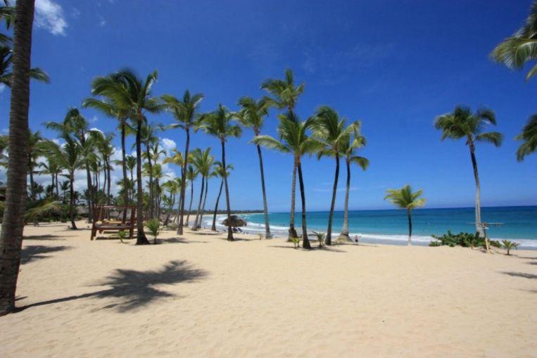 Een van de stranden op Punta Cana, op de Dominicaanse Republiek.