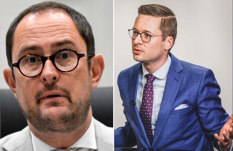 Vincent Van Quickenborne (Open Vld) en Wouter Vermeersch (Vlaams Belang)