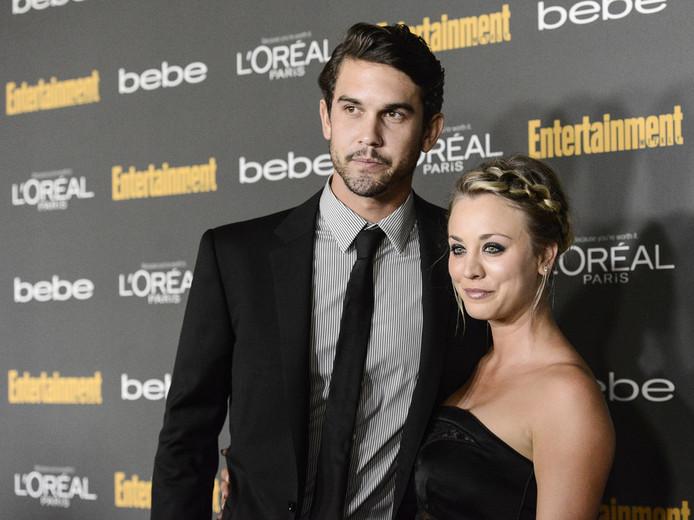 Ryan Sweeting en actrice Kaley Cuoco enkele jaren geleden.