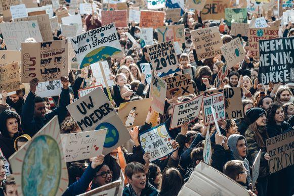 Archieffoto: klimaatprotest in Leuven op 7 februari.