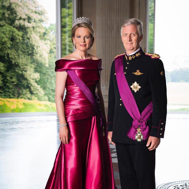 Koning Filip en koningin Mathilde.